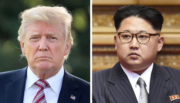トランプ米大統領、北朝鮮の金正恩朝鮮労働党委員長(ゲッティ=共同)