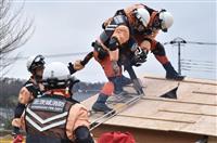 【東日本大震災7年】茨城・北茨城で人命救助訓練 潮来市では炊き出しで絆強める