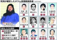 【オウム死刑囚】移送7人は新実智光、林泰男、早川紀代秀、井上嘉浩、岡崎一明、横山真人、…