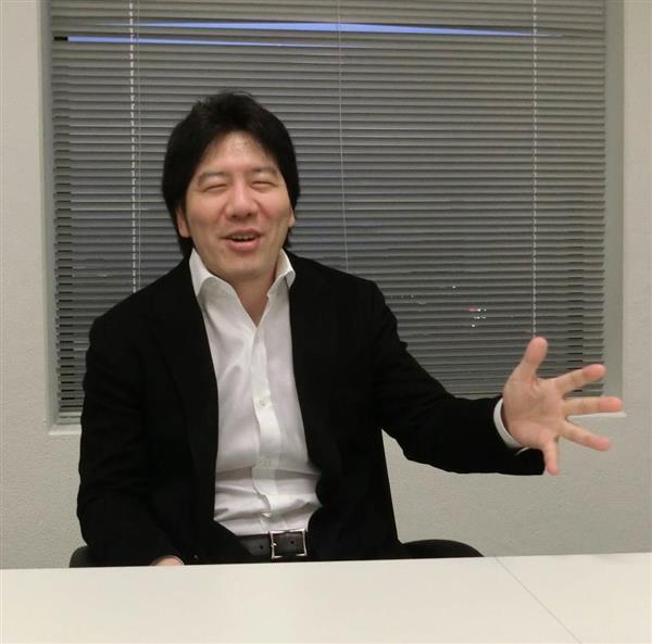 「任天堂の倒し方、知ってますよ」発言の真相を語るグリーの田中良和会長兼社長=2月26日、東京都港区