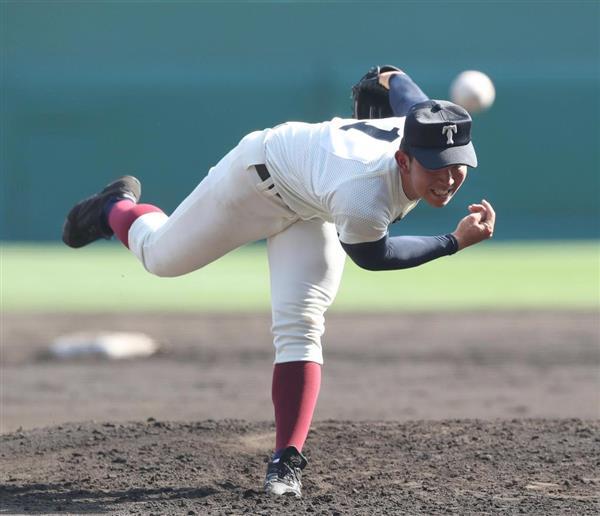 3回、大阪桐蔭・柿木蓮=3日、甲子園球場(撮影・門井聡)