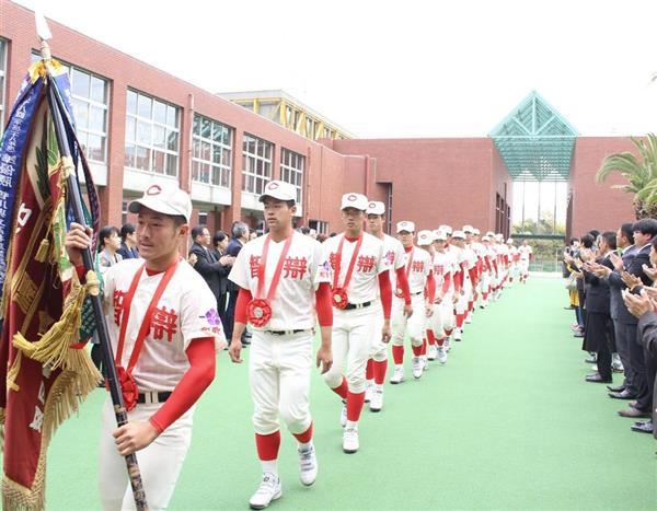 センバツ準優勝の智弁和歌山、選手ら胸張って母校に 夏の優勝メダルの ...