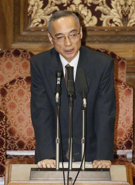 参院予算委で答弁する財務省の太田充理財局長=3月19日
