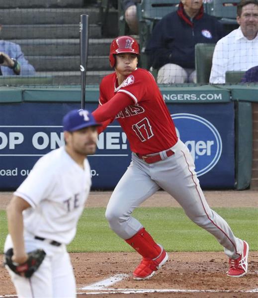 【MLB】大谷翔平、3打数1安打1四球 第1打席で左腕から先制適時打  - 産経ニュース