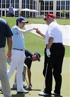【日米首脳会談】さてスコアは? 安倍晋三首相がトランプ大統領とゴルフ