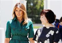 【日米首脳会談】「困難を乗り越えて。あなたならできる」 メラニア大統領夫人、昭恵首相夫…
