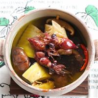 【料理と酒】タケノコとホタルイカとシイタケのアヒージョ