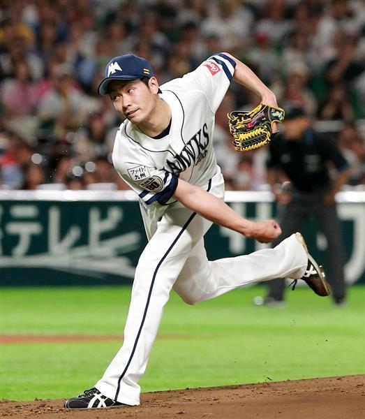 オリックス打線に1安打完封の好投を見せたソフトバンクの武田翔太=5日、ヤフオクドーム(仲道裕司撮影)