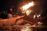 【動画】炎が照らす川面の妙技…伝統の「長良川鵜飼」始まる 岐阜市