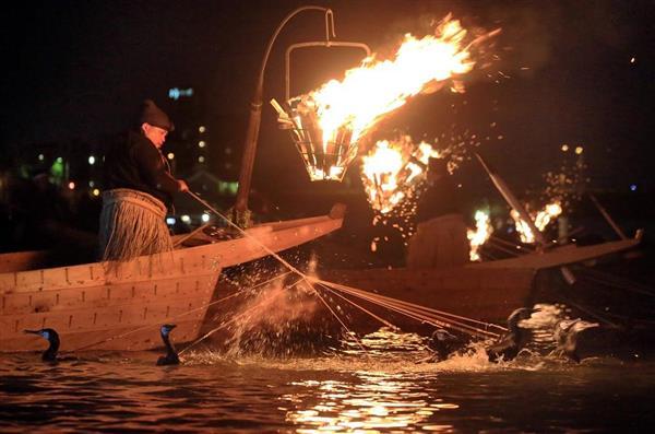 動画】炎が照らす川面の妙技…伝...