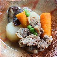 【料理と酒】鴨肉とダイコン、国分ニンジンの炊き合わせ