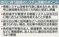 【天皇陛下譲位】新元号公表は平成31年4月1日を想定 改元の1カ月前 情報システム改修…