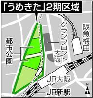 うめきた2期 オリックス不動産、阪急電鉄など参加 コンペ募集終了 大阪駅北側