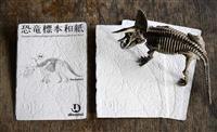 越前和紙加工して化石の質感再現 「恐竜標本和紙」販売
