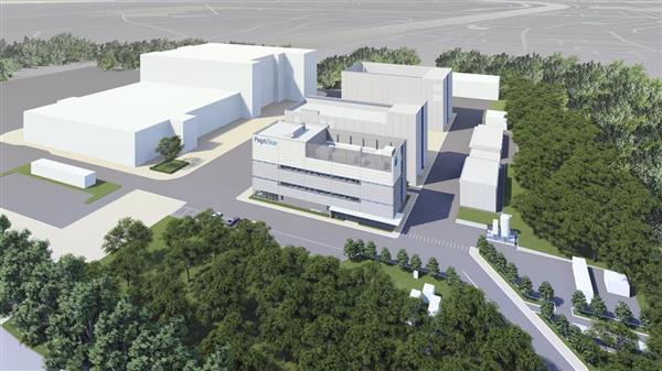 来春に竣工予定のペプチスター本社と工場(イメージ