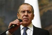 ロシアのラブロフ外相(共同)