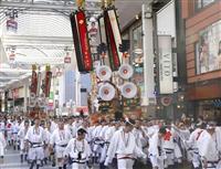 復興願い「ヨイトサ!」 熊本に戸畑祇園大山笠お目見え