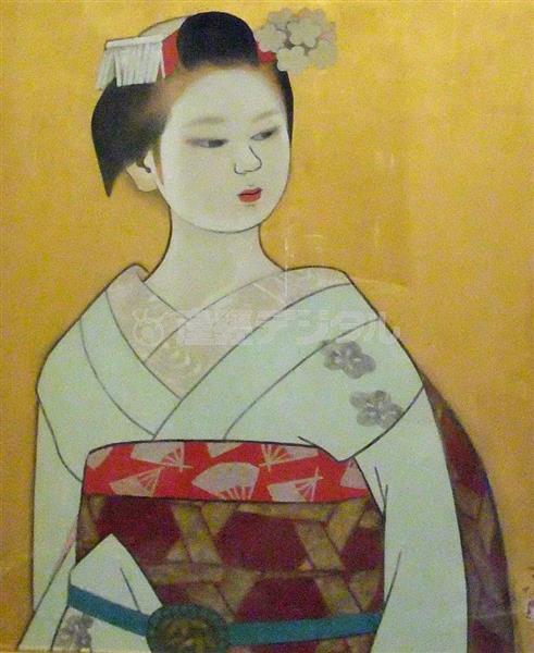 広田多津「舞妓」。黒い瞳がしっかり描き込まれている