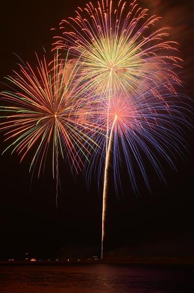 昨年開催された「岸和田港まつり」の花火大会。今年は中止が決まった(岸和田市提供)