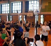 オリンピアンと楽しく運動、「東京」へ気分盛り上げ 熊本でイベント