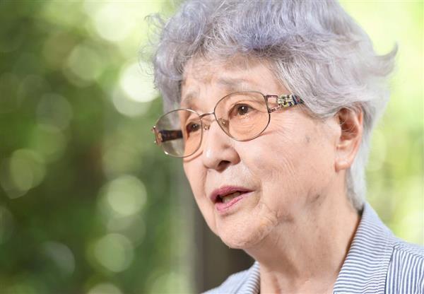 横田早紀江さん(寺河内美奈撮影)