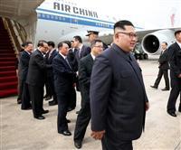 【動画】米朝首脳会談「主役」到着に騒然 シンガポール厳戒態勢