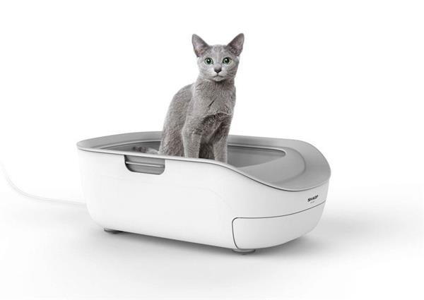 シャープが発売する猫用のトイレ型「ペットケアモニター」