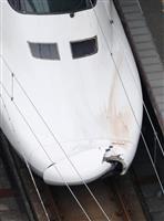 トンネル内で人はねたか 山陽新幹線のボンネットに亀裂問題 JR西
