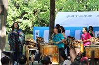 北海道神宮で「海道東征」を和太鼓で奉納演奏 緑の中響き渡る