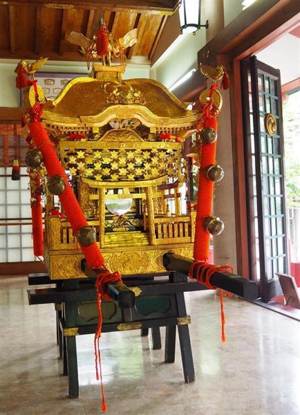 約130年前に作られた阿倍王子神社の神輿