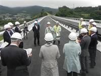 陸前高田-長部の年内開通を期待 唐桑高田道路を地元市議が視察