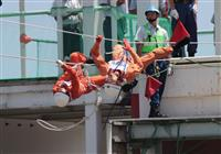 精鋭370人、日頃の成果披露 茨城で県消防救助技術大会