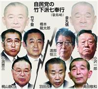 【平成30年史 政界再編(2)】金丸氏跡目争いで「小沢氏VS反小沢氏」で鉄の結束瓦解 …