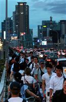 【大阪北部地震】車内で5時間超、徒歩帰宅…鉄道網寸断、朝夕ラッシュ直撃