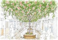 甲府中心街にブドウ棚 設計士ら、「独特の景観」でにぎわい構想