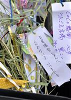【大阪北部地震】発生から2週間 女児犠牲の小学校では冥福祈る短冊