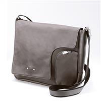 在庫限りのお買い得。夏に軽やかなグレーのフランス製カーフレザーバッグ