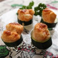 【料理と酒】ズッキーニとエビ&タラコのマヨネーズ焼き