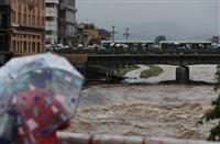 【動画】近畿の大雨 京都は11万人に避難指示、JR西は6日始発から一部運休
