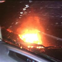 【動画】工場爆発、近隣の十数人けが 岡山 住宅も一時火災