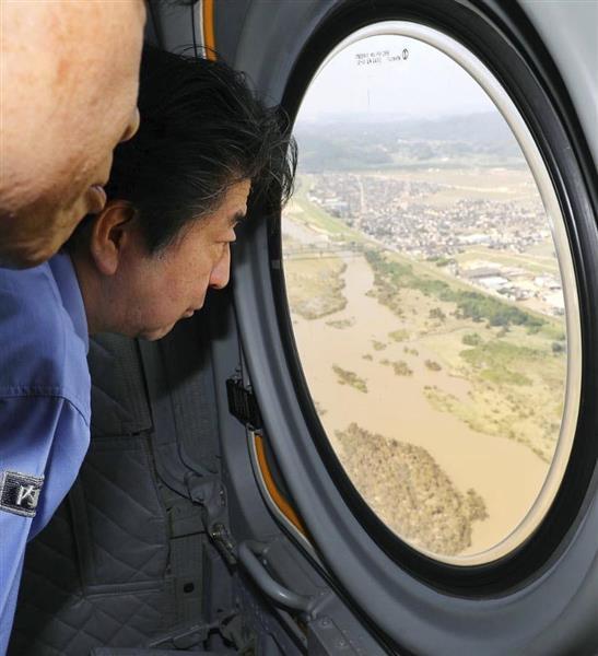 plt1807110008 p1 - 【画像】安倍晋三さん、女湯の前で声をかけて被災者を応援してしまう