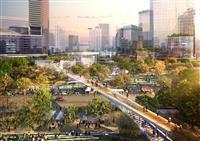 「うめきた2期」開発で大阪・梅田の都心部に大規模な緑地 芝生広場で野外イベントも
