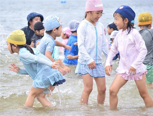 神戸・須磨海水浴場、海開き 園児ら歓声 - 産経ニュース