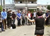 西日本豪雨 岩国基地の米兵が復旧支援 浸水住宅でボランティア