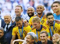 【ロシアW杯】ベルギー過去最高の3位 イングランドに2-0