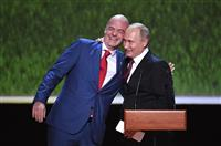 【ロシアW杯】イメージ向上の成果強調 FIFA会長とロ大統領