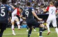 【ロシアW杯】決勝速報(3)クロアチアが追い付く、ペリシッチが同点弾