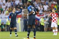 【ロシアW杯】決勝速報(5)フランス2-1で後半へ