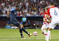 【ロシアW杯】決勝速報(6)フランスが追加点、ポグバのゴールで3-1に