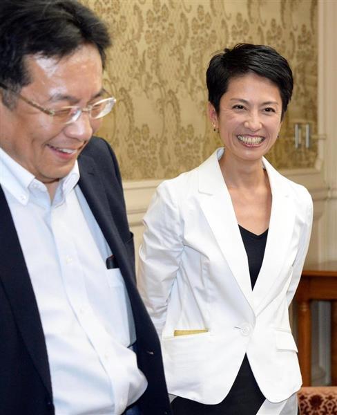 民進党から立憲民主党に入った蓮舫氏(右)と枝野幸男代表。「まっとうな政治」はどこに…(斎藤良雄撮影)